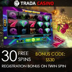 Trada Casino 30 Free Spins No Deposit