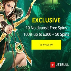 Jetbull Casino 10 Free Spins No Deposit