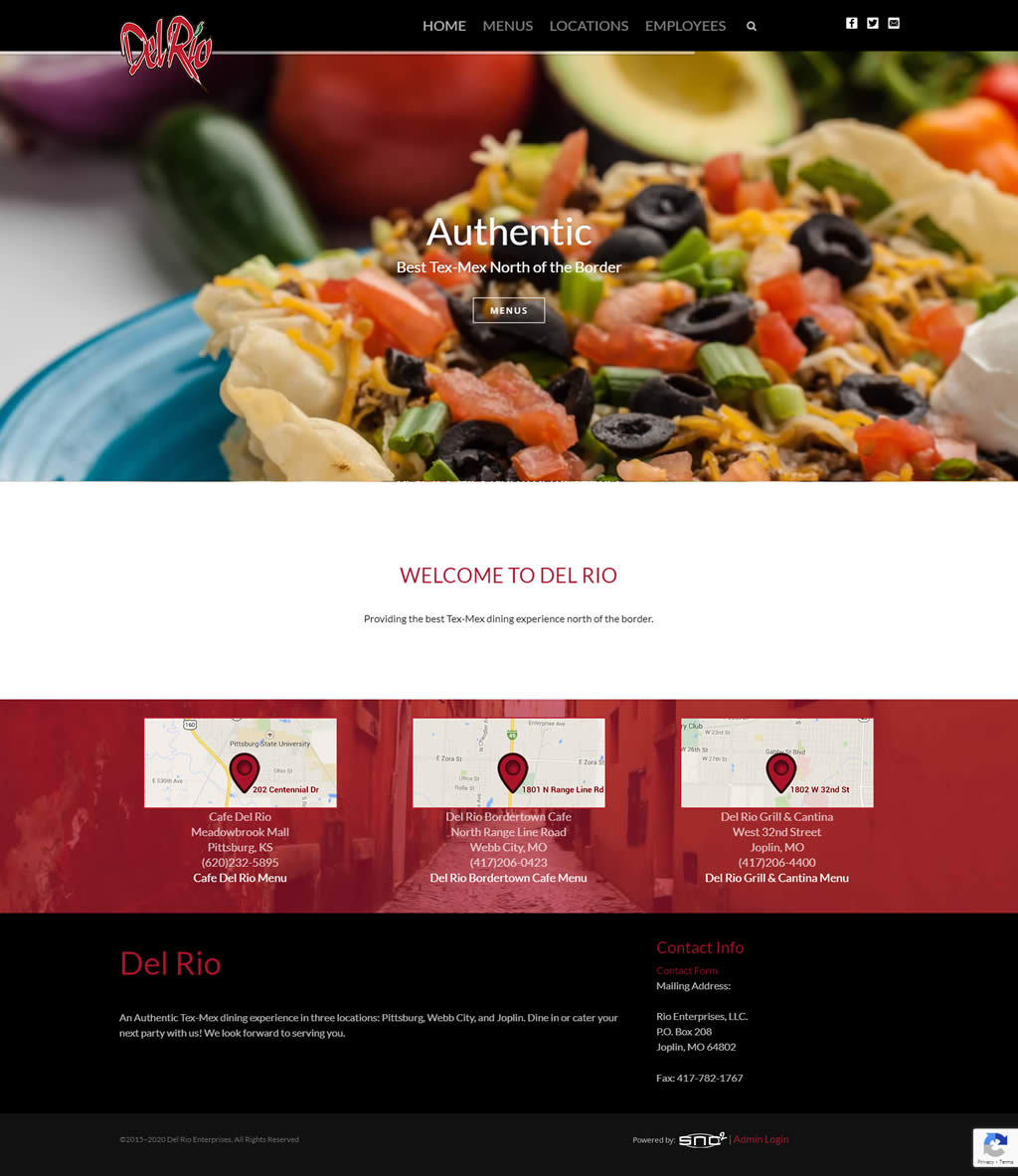 Joplin, Webb City, Pittsburg Restaurant Website Design