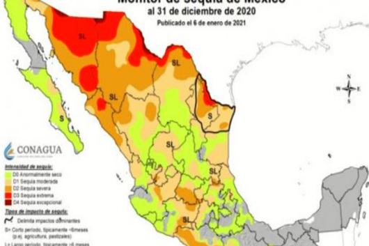 Atlas de mexico de 4 grado pdf. Inicia Mexico El 2021 Con Algun Grado De Sequia En 78 42 Del Territorio