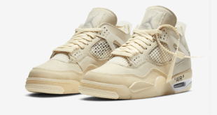 Off White x Nike Air Jordan 4 - Sail - CV9388-100