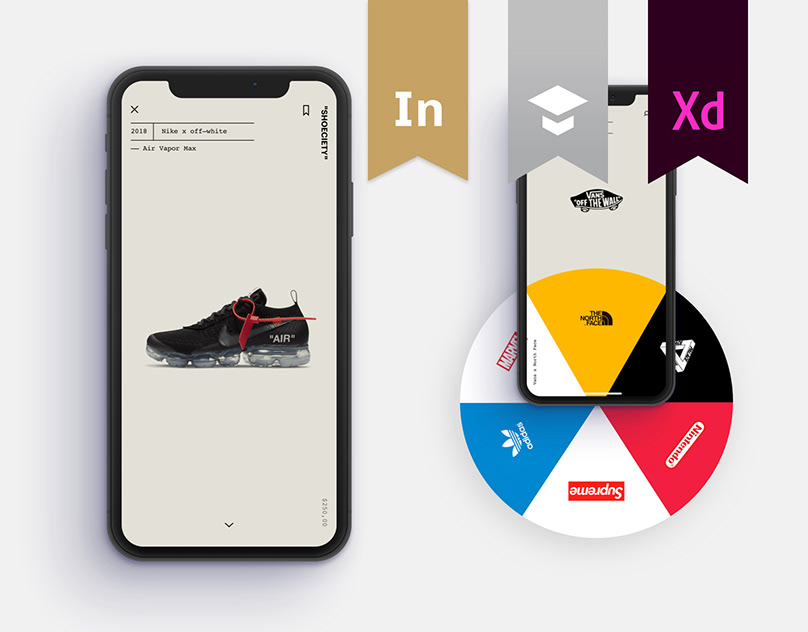 """Shoeciety"" – Sneakers App Concept"