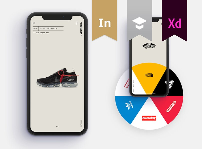 """""""Shoeciety"""" – Sneakers App Concept"""