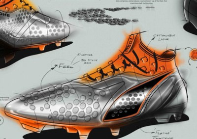 "PUMA ONE ""generation 3"" sketch process"