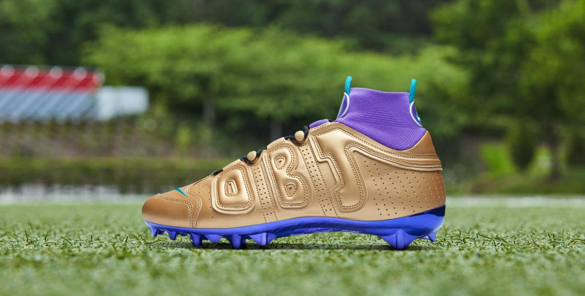 nike-odell-beckham-jr.-pregame-cleats-2019-20-season-air-jordan-5-gold-and-purple