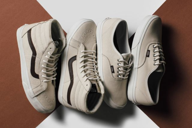 "Vans ""Blanc de Blanc"" Leather Collection"