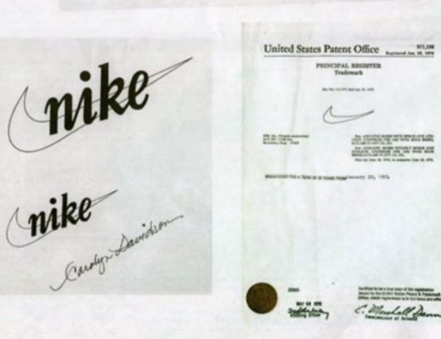 """A """"Nike"""" és a """"The Swoosh"""" védjegy dokumentumai"""