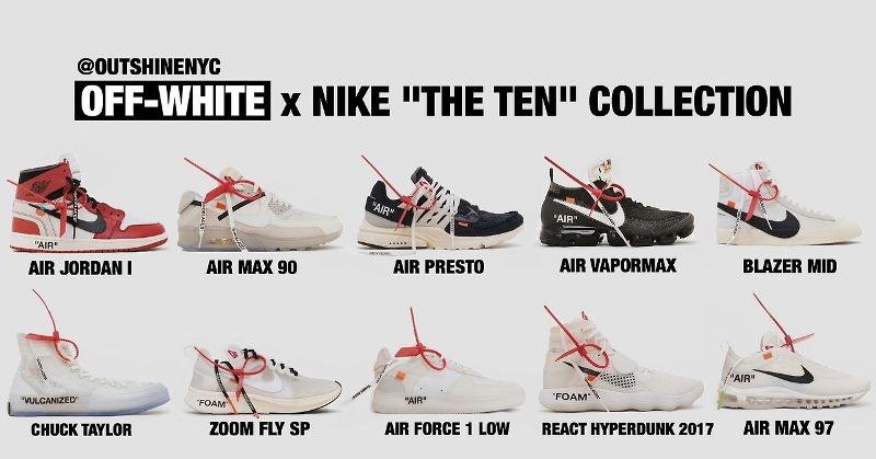 Nike x Off-White: Virgil Abloh: a teljes THE TEN kollekció