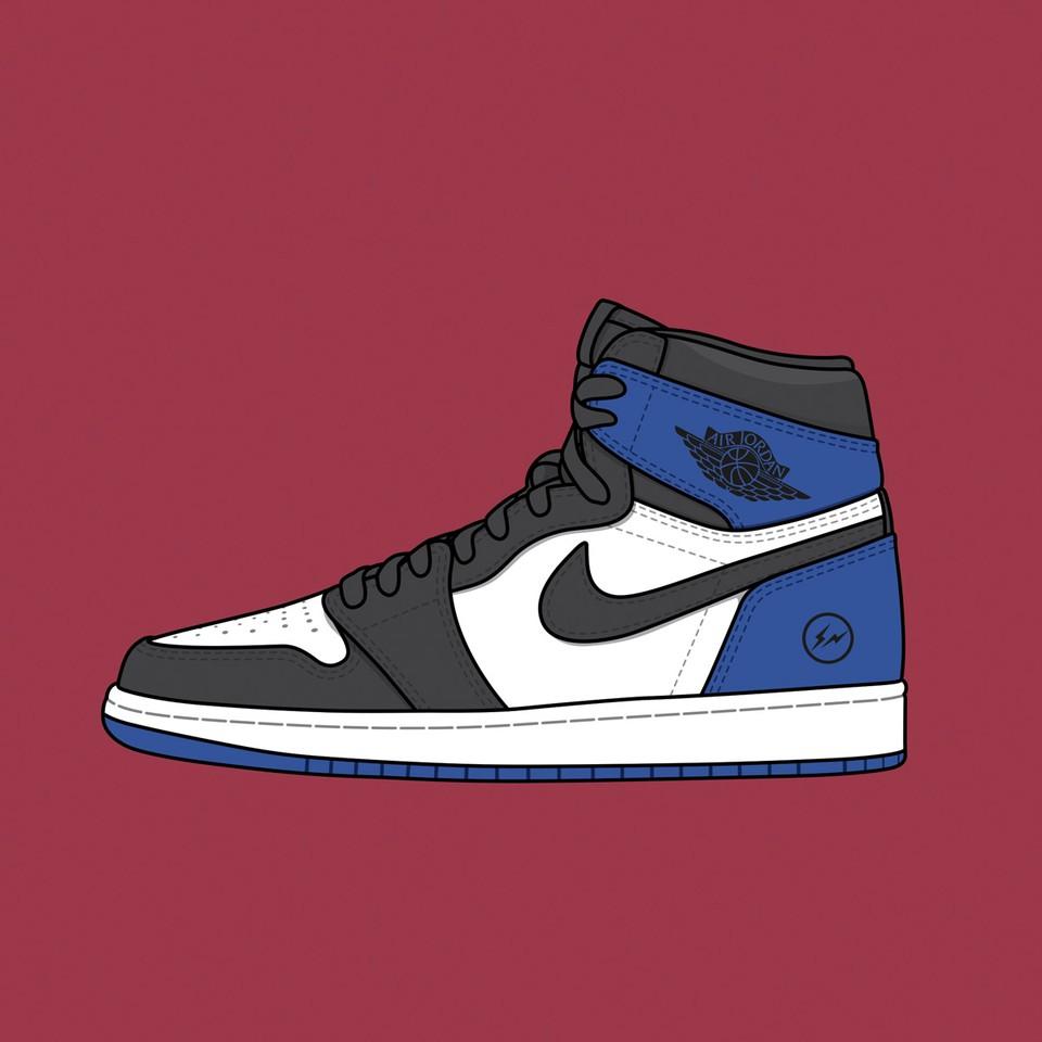 Fragment x Nike Air Jordan 1 F&F