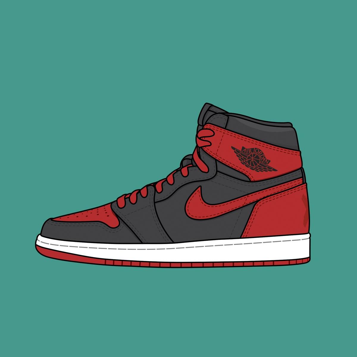 """Nike Air Jordan 1 """"Banned"""" 2011"""