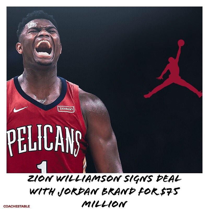 Zion Williamson x Jordan brand