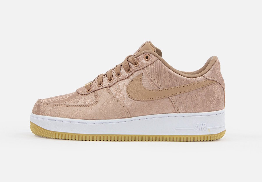"CLOT x Nike Air Force 1 ""Rose Gold Silk"""