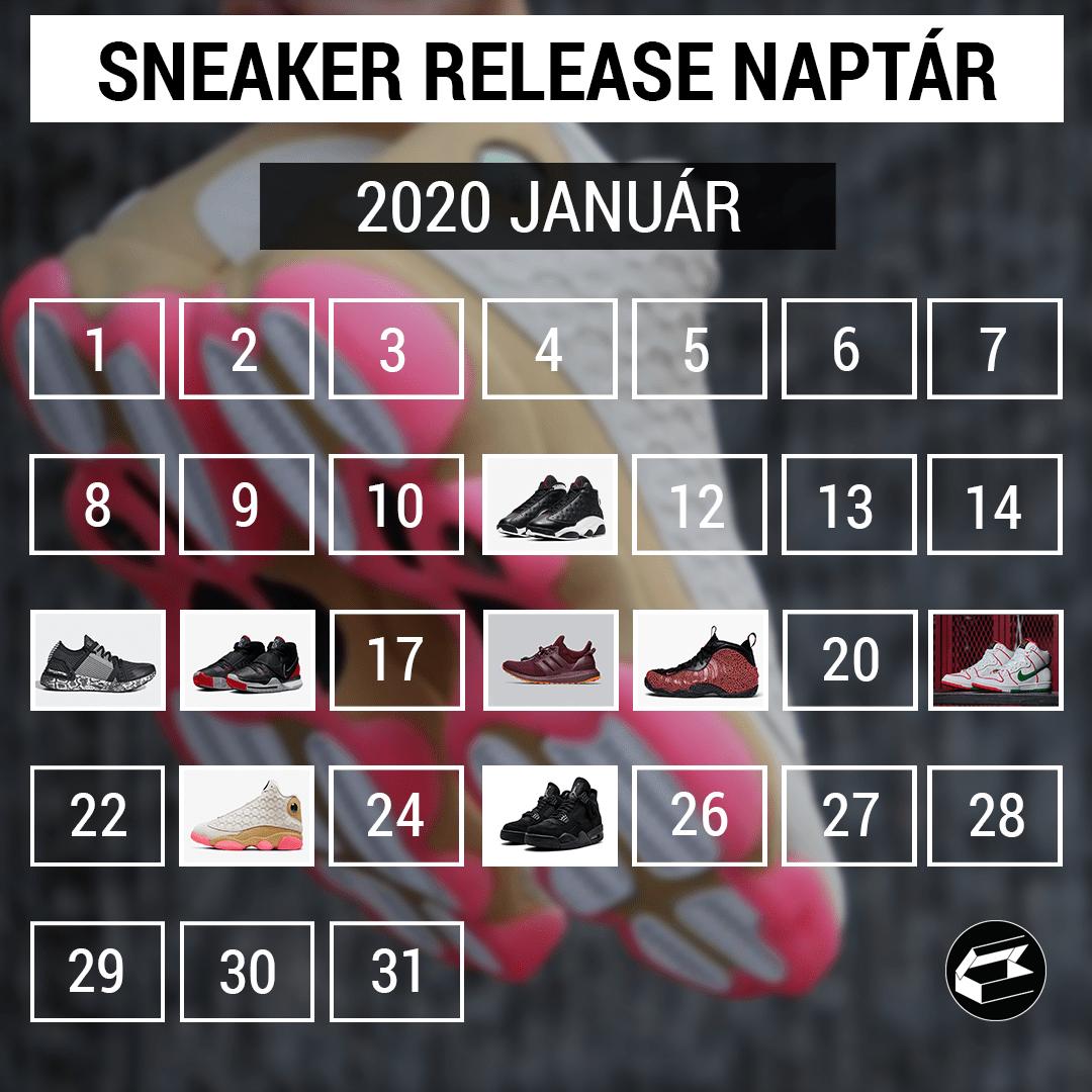 Sneaker Release Calendar – 2020 január
