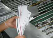 A vulcanized shoe factory