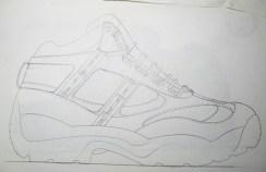 Get a shoe sketch you like