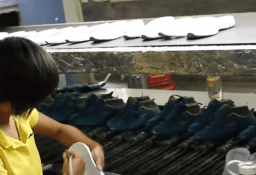 Shoe factory video- outsole assembly- cementing