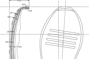 Drawing-a-Shoe-Outsole-Blue-Print-444
