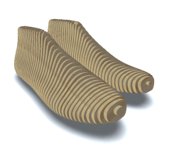 You can use the same pattern to make a wood last