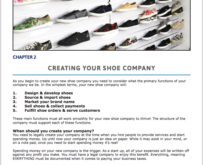 Creating Your Footwear Company