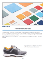 Chapter 18 : Synthetics for Shoes Synthetic types Application on shoes