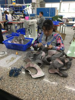 Most women's high heels shoes have few stitching operations