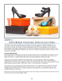 Footwear Packing Specifications  How to design and specify packing materials for shoes.
