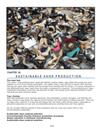 Sustainable shoe production  How to reduce the environmental impact of your shoes.