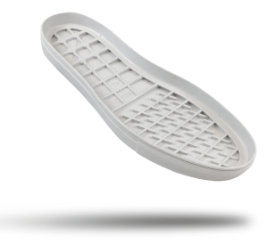 Rubber cupsole outsole Faux vulcanized Margom styling. Egg crate cushioning. DIY resole