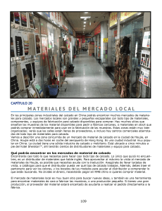 CAPÍTULO 20: MATERIALES DEL MERCADO LOCAL. Utilizar materiales locales en stock.