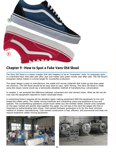 be sure your Vans Old Skool kicks are an authentic Vans product?