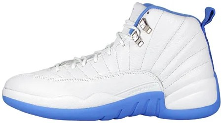 Air Jordan 12 XII Retro Womens White University Blue
