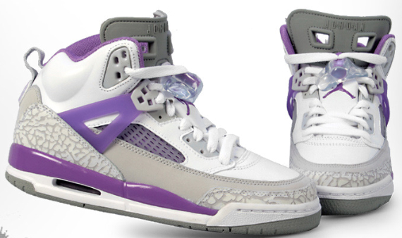 Air Jordan Spizike (GS) - White / Violet - Grey