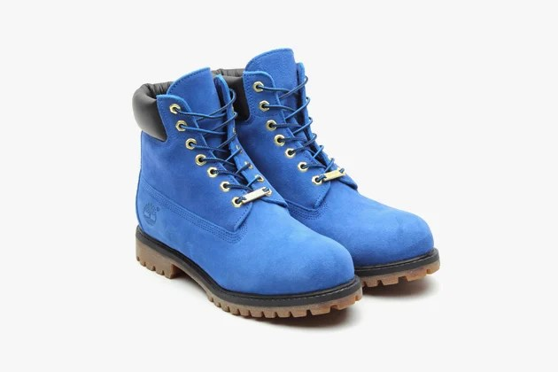 Atmos X Timberland 6 Premium Blue Suede Boot SneakerFiles