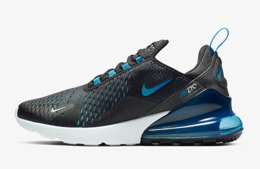 5ab098f29c9e Nike Air Max 270 Black Photo Blue AH8050-019 Release Date