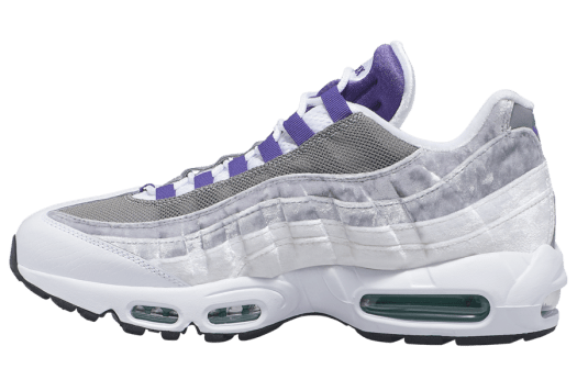 Nike Air Max 95 LV8 White Court Purple Emerald Green AO2450-101 Release Date