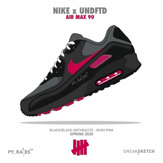 Undefeated x Nike Air Max 90 Collection Releasing Spring 2020