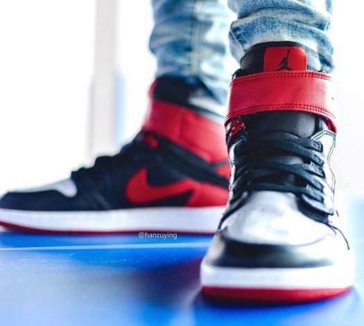 Air Jordan 1 FlyEase Gym Red CQ3835-001 On Feet
