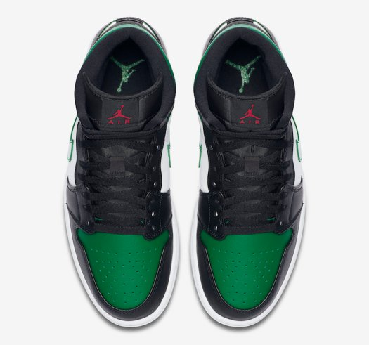 Air Jordan 1 Mid Pine Green Toe 554724-067 Release Date