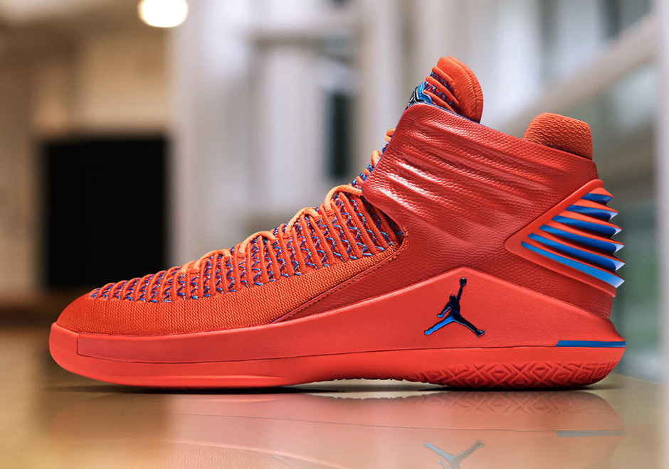 Up Close Detailed Look At Russell Westbrooks Air Jordan 32 Creamsicle PE For OKC Media Day!