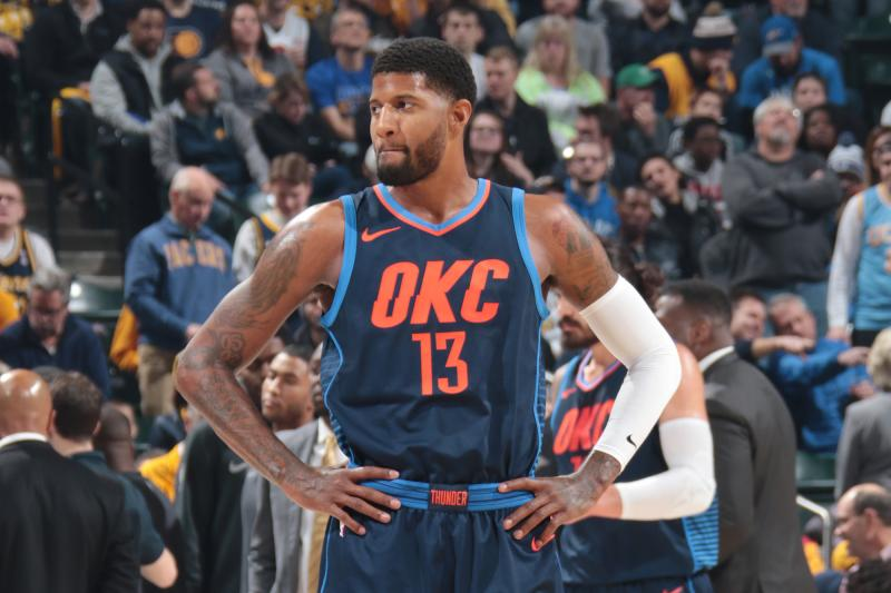 The OKC Thunder Win In Paul George's Return To A Hostile Indiana (100-95)