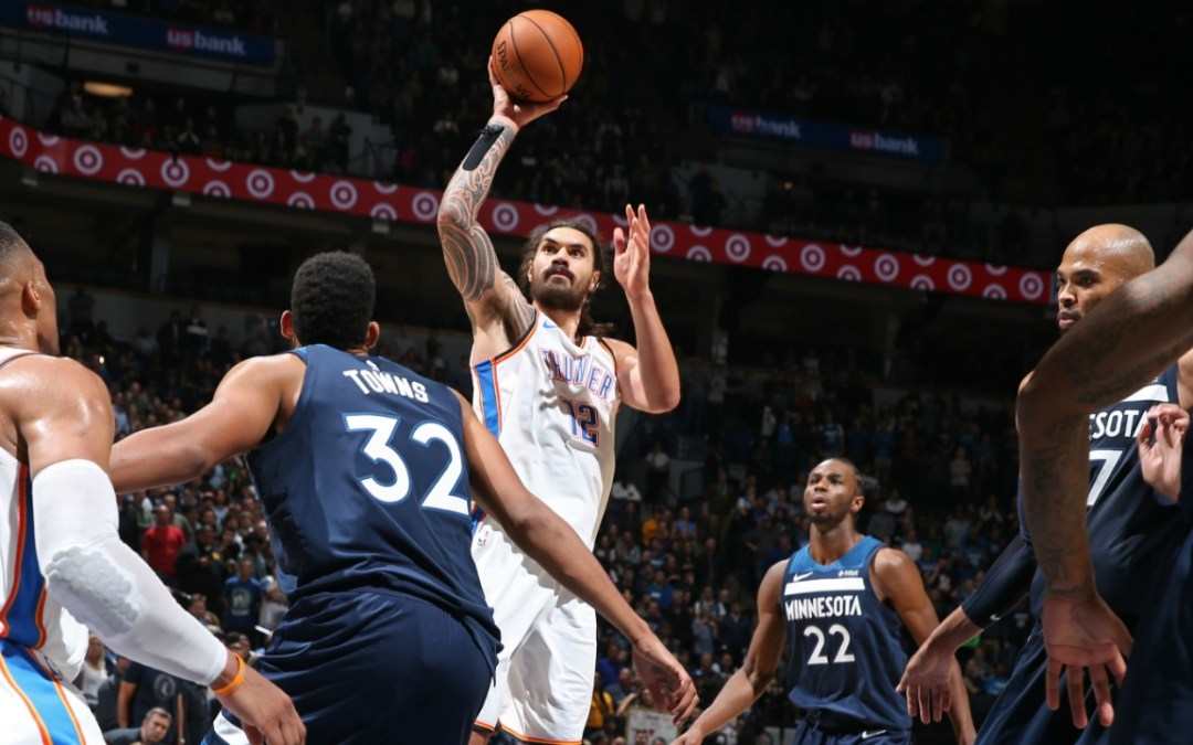 OKC Thunder Bounce Back Against T-Wolves (111-107) Led By Steven Adams Perfect Night