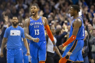 OKC Thunder Powered By George & Westbrook Take Out Utah Jazz In Double OT (148-147)