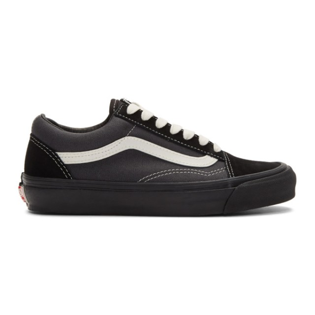 Vans Black and Grey OG Old Skool LX Sneakers
