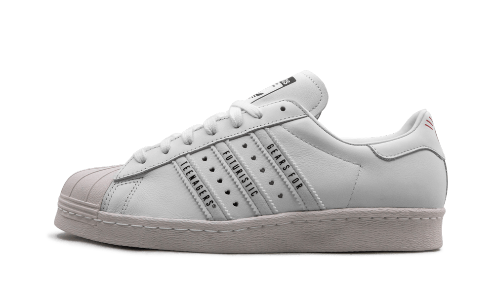Adidas Super Star 80s Human Made 'White' Shoes - Size 10