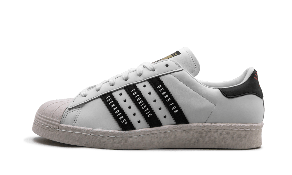 Adidas Super Star 80s Human Made 'White/Black' Shoes - Size 10