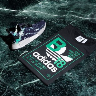 "adidas x sivasdescalzo NMD ""Green Marble"" & Trefoil T-shirt"
