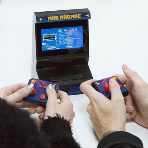 Mini consola de videojuegos arcade para dos jugadores 8 bit