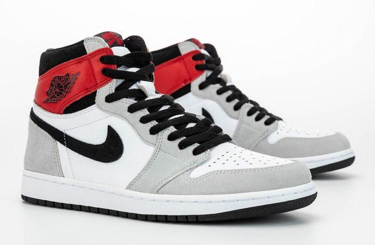 Air Jordan 1 High Light Smoke Grey/Varsity Red