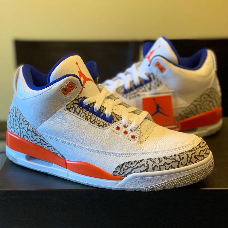 Release Date: Air Jordan 3 'Knicks'