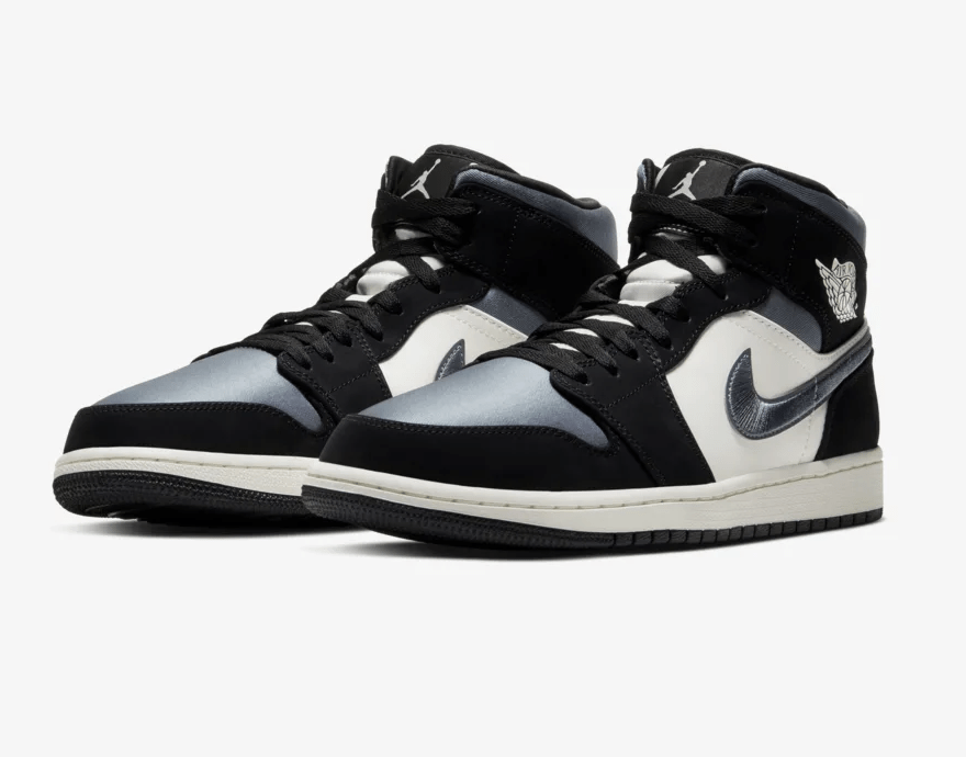 Air Jordan 1 Mid 'Black/Smoke Grey'